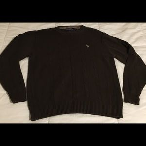 US Polo Assn. XL Men's Brown Cable knit Sweater